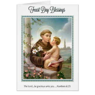 Feast Day St. Anthony of Padua Child Jesus Card