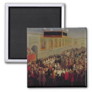 Feast given after the Coronation of Louis XV 2 Inch Square Magnet