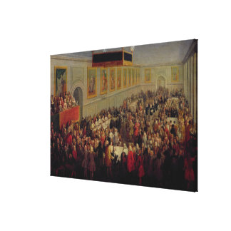 Feast given after the Coronation of Louis XV Canvas Print