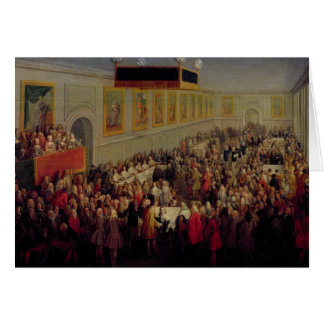 Feast given after the Coronation of Louis XV Card