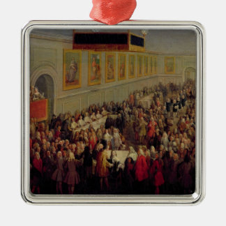 Feast given after the Coronation of Louis XV Christmas Tree Ornaments