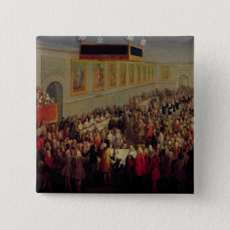 Feast given after the Coronation of Louis XV Pinback Button