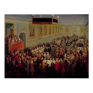 Feast given after the Coronation of Louis XV Postcard