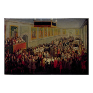 Feast given after the Coronation of Louis XV Poster