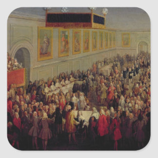 Feast given after the Coronation of Louis XV Square Sticker