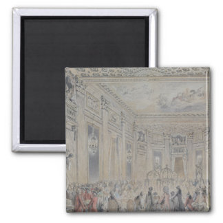Feast given by Madame du Barry  for Louis XV 2 Inch Square Magnet