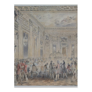 Feast given by Madame du Barry  for Louis XV Postcard