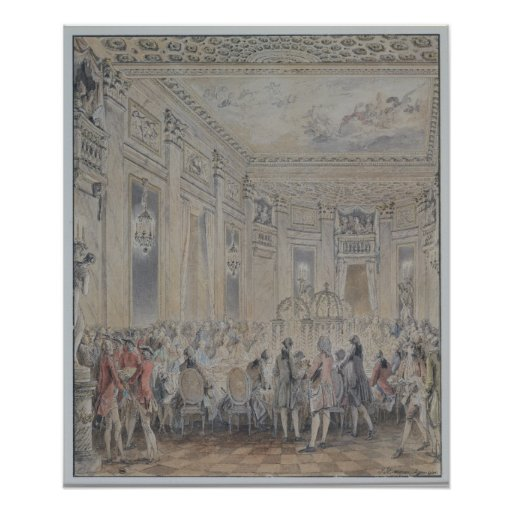 Feast given by Madame du Barry  for Louis XV Posters