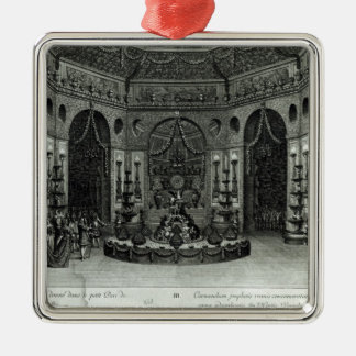 Feast given in the little grounds in metal ornament