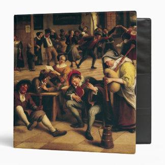 Feast in an Inn, detail of the central group Vinyl Binder