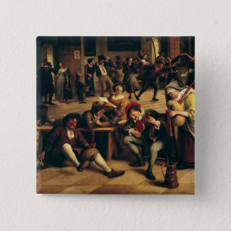 Feast in an Inn, detail of the central group Pinback Button