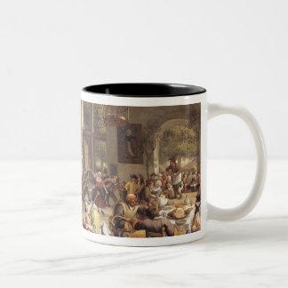 Feast in an Inn Two-Tone Coffee Mug