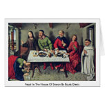 Feast In The House Of Simon By Bouts Dieric Cards