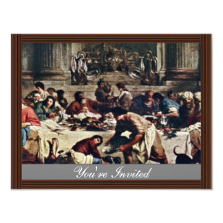Feast In The House Of Simon By Subleyras Pierre 4.25x5.5 Paper Invitation Card