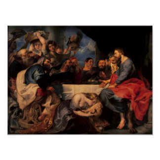 Feast in the house of Simon the Pharisee, c.1620 Poster