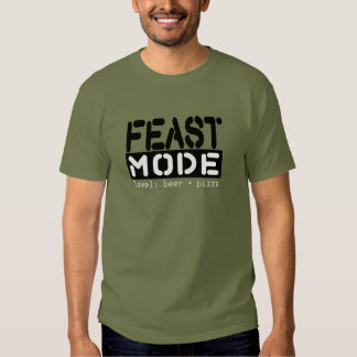 Feast Mode - Level: Beer + Pizza Funny Tee