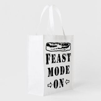 Feast Mode ON with Bacon Reusable Grocery Bags