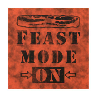 Feast Mode ON with Bacon Wood Wall Decor