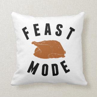 Feast Mode   Thanksgiving Decor Throw Pillow