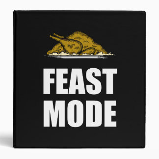 Feast Mode Thanksgiving Turkey Binder