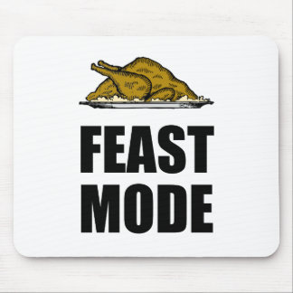 Feast Mode Thanksgiving Turkey Mouse Pad