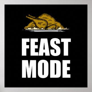 Feast Mode Thanksgiving Turkey Poster