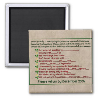 Feast of Dysfunction 2 Inch Square Magnet
