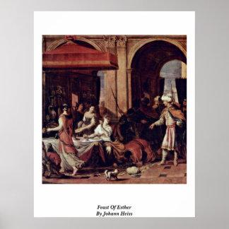 Feast Of Esther By Johann Heiss Print