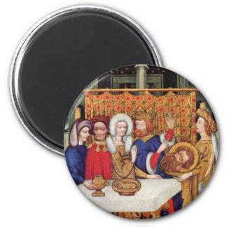 Feast Of Herod By Meister Des Ulmer Hochaltars (Be 2 Inch Round Magnet
