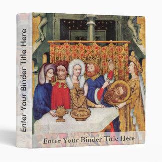 Feast Of Herod By Meister Des Ulmer Hochaltars (Be 3 Ring Binder