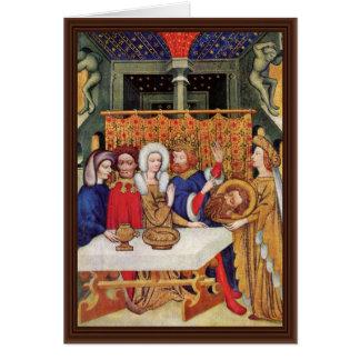Feast Of Herod By Meister Des Ulmer Hochaltars (Be Greeting Card