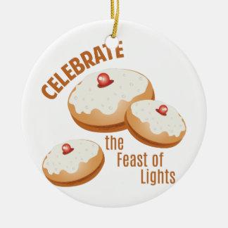 Feast Of Lights Ceramic Ornament