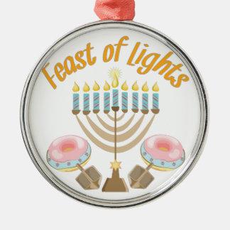 Feast Of Lights Metal Ornament