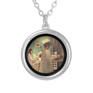 Feast of Saint Lucie Silver Plated Necklace