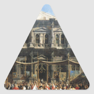 Feast of San Rocco by Canaletto Triangle Sticker