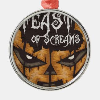 Feast Of Screams Metal Ornament