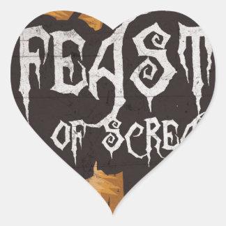 Feast Of Screams Heart Sticker