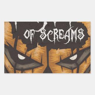 Feast Of Screams Rectangular Stickers