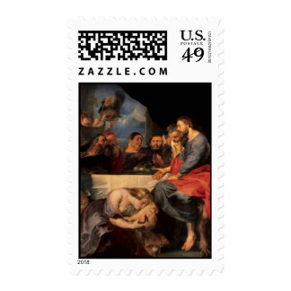 Feast of Simon & Mary Magdalene at Jesus' feet 3 Postage Stamp
