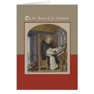 Feast of St. Dominic Blessings Card