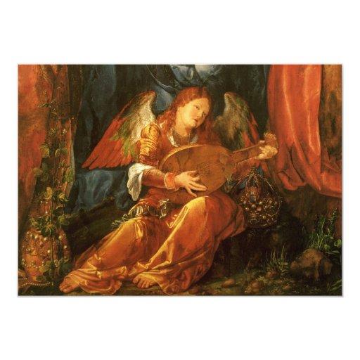 Feast of the Rose Garlands, Angel Albrecht Durer 5x7 Paper Invitation Card