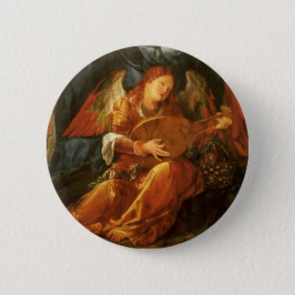 Feast of the Rose Garlands, Angel Albrecht Durer Button