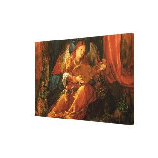 Feast of the Rose Garlands, Angel Albrecht Durer Canvas Print