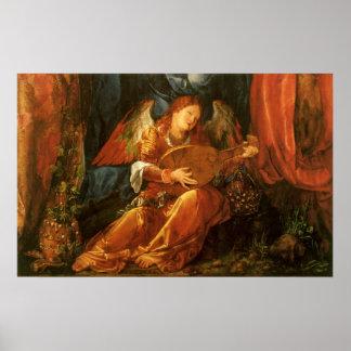 Feast of the Rose Garlands, Angel Albrecht Durer Poster
