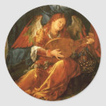 Feast of the Rose Garlands, detail Albrecht Durer Stickers