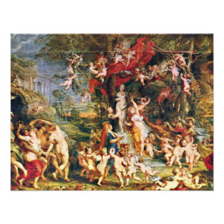Feast Of Venus By Rubens Peter Paul (Best Quality) Personalized Announcement