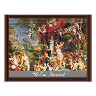 Feast Of Venus By Rubens Peter Paul (Best Quality) Invitations