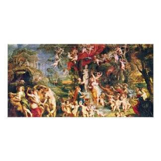Feast Of Venus By Rubens Peter Paul (Best Quality) Picture Card