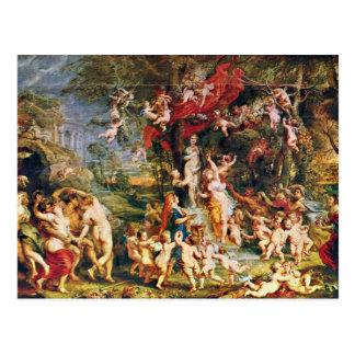 Feast Of Venus By Rubens Peter Paul (Best Quality) Postcard