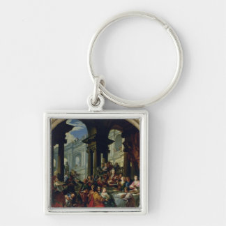 Feast under an Ionic Portico, c.1720-25 Keychain